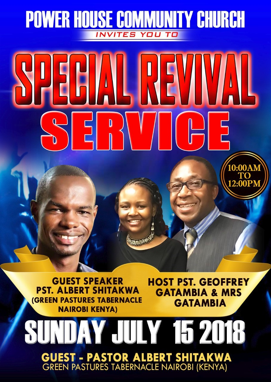 a Special Revival Service
